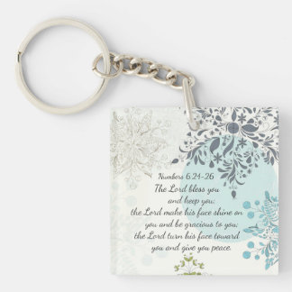 The Lord Bless You Numbers 6:24 Bible Verse Custom Key Ring