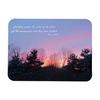 The Lord Created Them Rectangular Photo Magnet