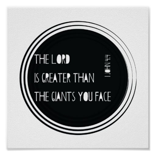 The Lord is Greater than... Poster