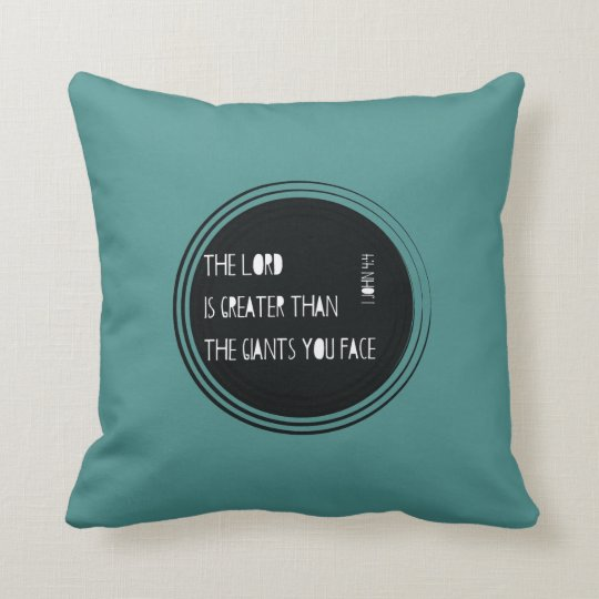The Lord is Greater than... Throw Pillow