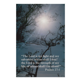 The Lord is my light Print