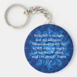 The LORD is my light  - Psalm 27:1 Basic Round Button Key Ring