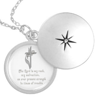 The Lord is my rock Silver Plated Necklace