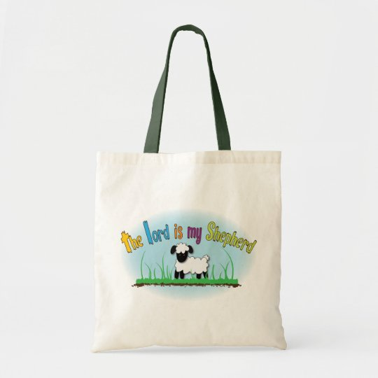 The Lord is my Shepherd Christian cloth tote