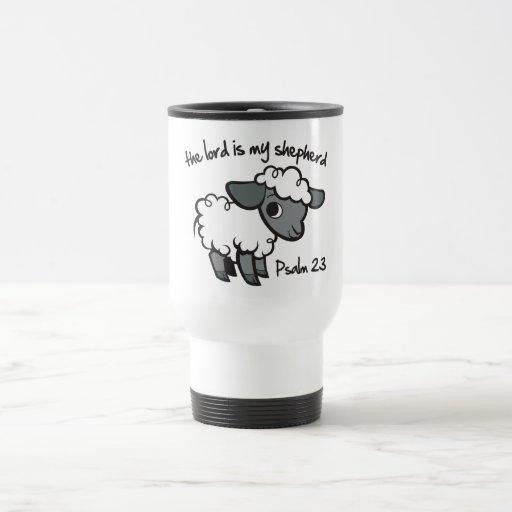 The Lord is my Shepherd 15 Oz Stainless Steel Travel Mug
