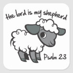 The Lord is my Shepherd Square Stickers