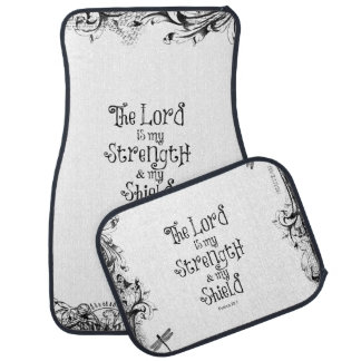 The Lord is my Strength Bible Verse Car Mat
