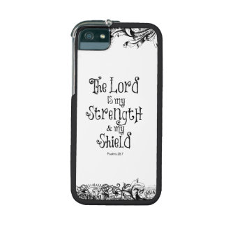 The Lord is my Strength Bible Verse iPhone 5/5S Cover