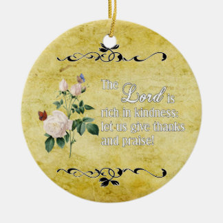 The Lord Is Rich In Kindness Custom Ornament II