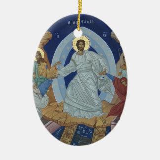 The Lord Jesus Christ Resurrection Icon Christmas Ornament