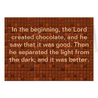 The Lord Made Chocolate Card