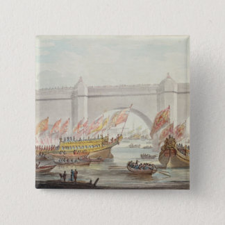 The Lord Mayor landing at Westminster 15 Cm Square Badge