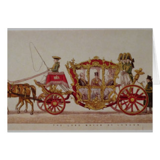 The Lord Mayor of London, 1853 Card