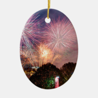 The Lord Mayor's Fireworks, Southbank London Ceramic Oval Decoration