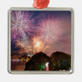 The Lord Mayor's Fireworks, Southbank London Silver-Colored Square Decoration