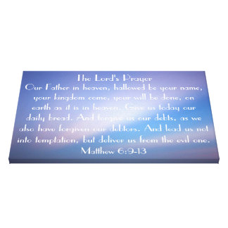 The Lord s Pray wrapped canvas Canvas Print