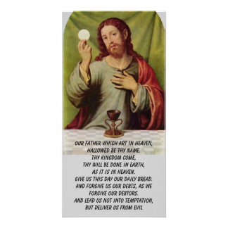 The Lord s Prayer photo card
