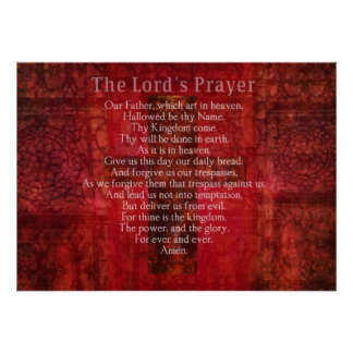The Lord s Prayer Words Religious Art Posters