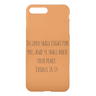 The Lord Shall Fight For You Orange Background iPhone 8 Plus/7 Plus Case