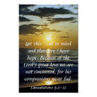 the Lord's great love bible verse reminder sunrise Poster