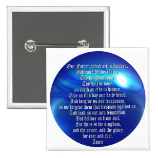 The Lord's Prayer 15 Cm Square Badge