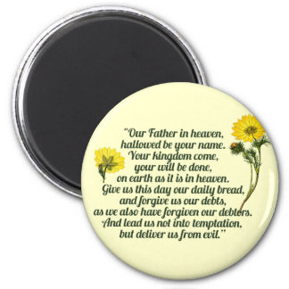 The Lords Prayer 6 Cm Round Magnet