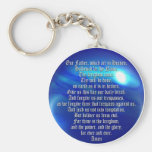 The Lord's Prayer Basic Round Button Key Ring