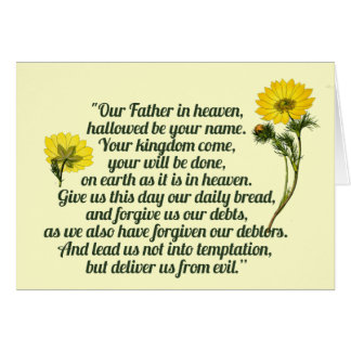 The Lords Prayer Stationery Note Card