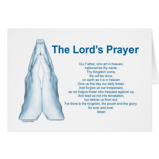 The Lords Prayer Card