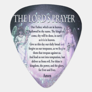 The Lord's Prayer Guitar Pick