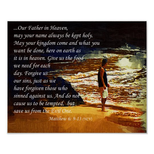 The Lord's Prayer Inspirational Wall Poster