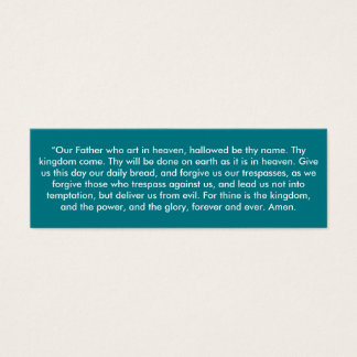 """""""The Lord's Prayer"""" Little Notes Mini Business Card"""