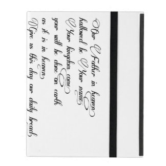 The Lord's prayer on iPad iPad Cover