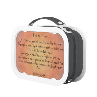 The Lord's Prayer, Orange Vintage Background Lunchboxes
