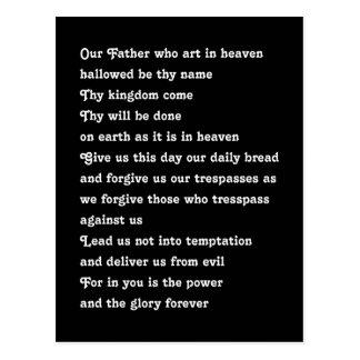 The Lord's Prayer Postcard