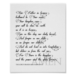 The Lord's Prayer Print