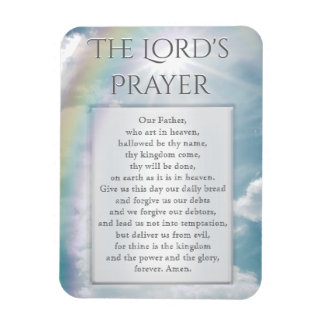 The Lord's Prayer Rectangular Photo Magnet