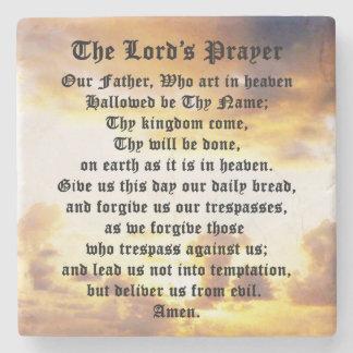 The Lord's Prayer, Sunrise, Marble Coaster Stone Beverage Coaster