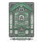 The Lord's Prayer vintage engraving (Green) Postcard