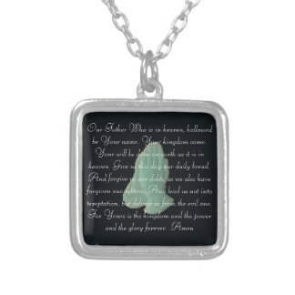 The Lord's Prayer with praying hands Necklace