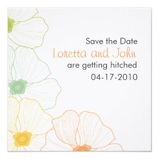The Loretta Save the Date 13 Cm X 13 Cm Square Invitation Card