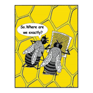 The Lost Bees, Humour Postcard