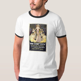 """The Lost City"" 1920 silent movie serial poster Tshirts"