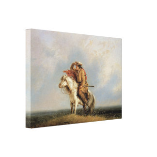 The Lost Greenhorn Lost on the Prairie by Miller Canvas Prints