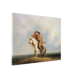 The Lost Greenhorn, Lost on the Prairie by Miller Canvas Prints