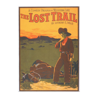 The Lost Trail - Comedy Drama Western Life Canvas Print