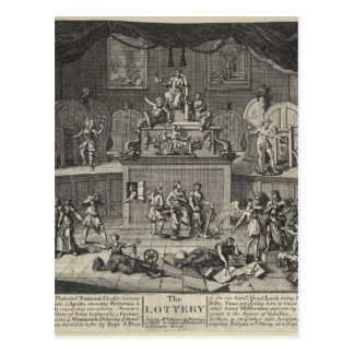 The Lottery by William Hogarth Postcard