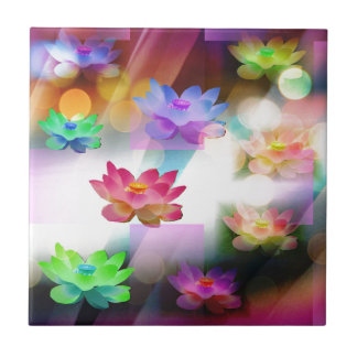 The Lotus Flower Small Square Tile