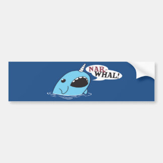 The Loud Narwhal Bumper Sticker