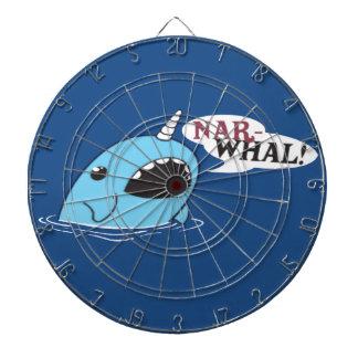 The Loud Narwhal Dartboard